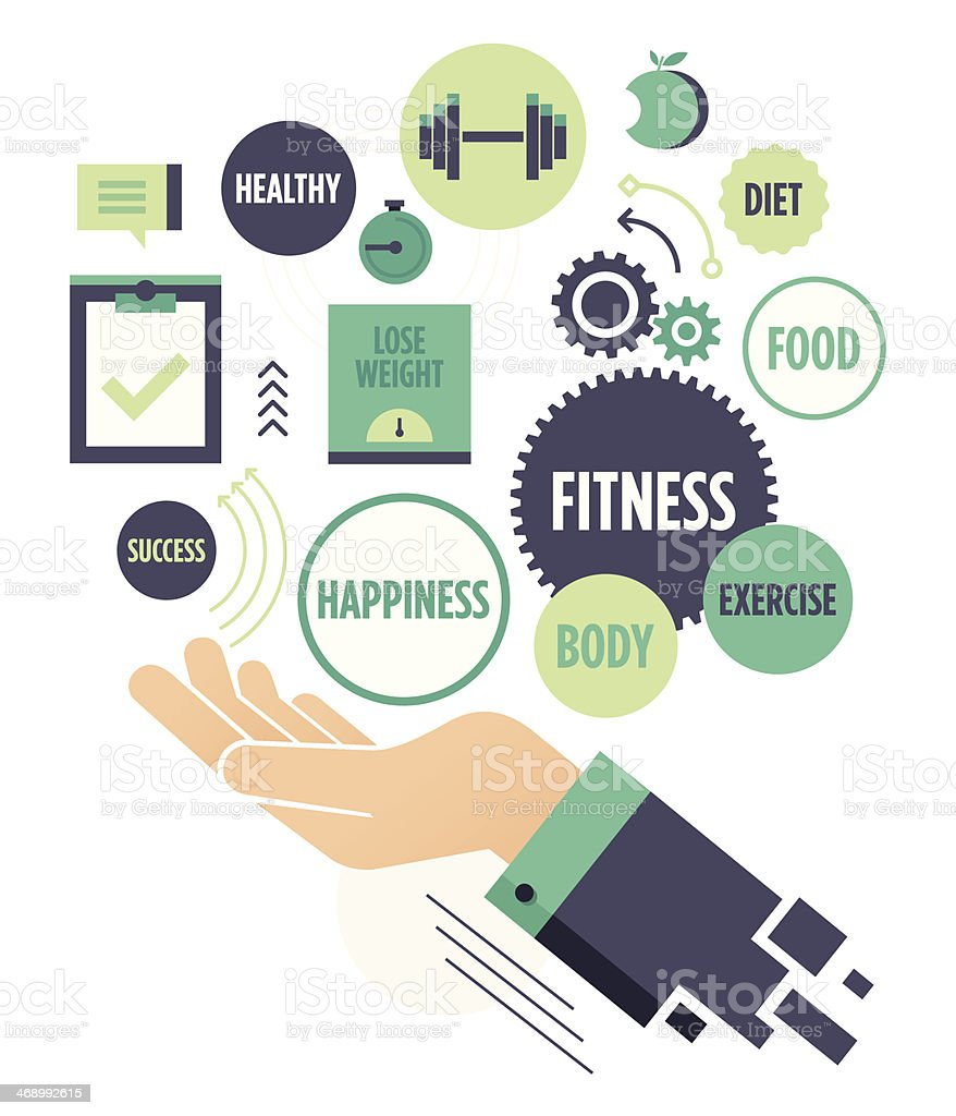 Fitness vector art illustration
