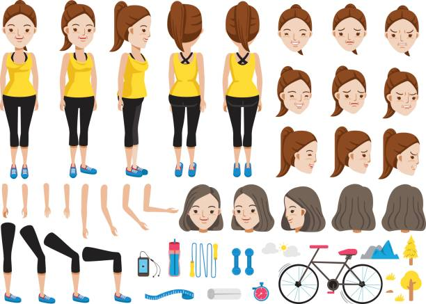 bildbanksillustrationer, clip art samt tecknat material och ikoner med fitness - gym skratt