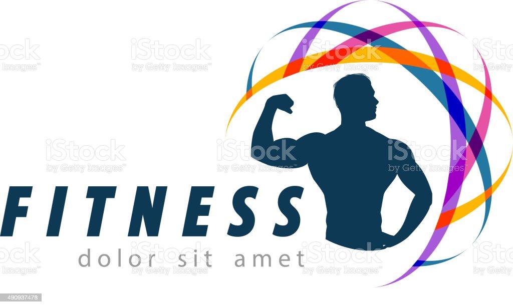 フィットネスのベクトルのロゴデザイン templateスポーツやジムアイコン