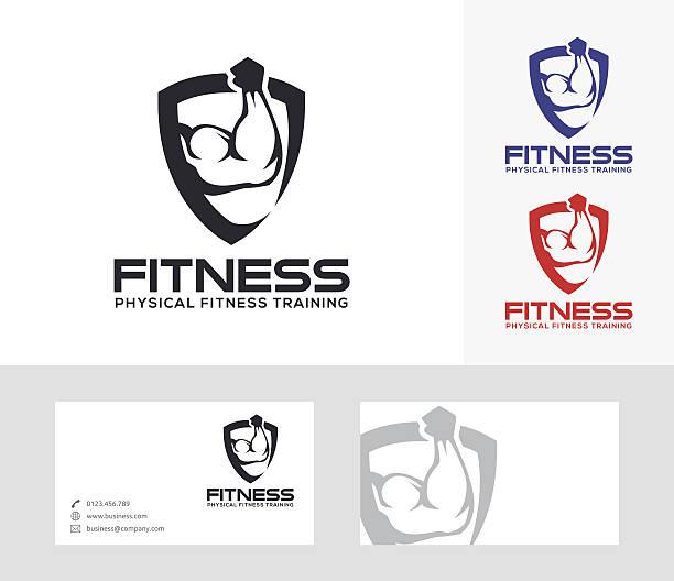 Fitness vector logo vector art illustration