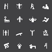 Fitness Workout Icon Set
