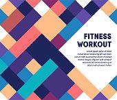 istock Fitness Workout Modern & Geometric Vector Illustration 1166977692