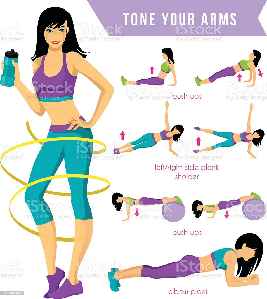 Fitness Workout vector art illustration