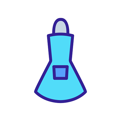 fitted female apron with pocket icon vector outline illustration