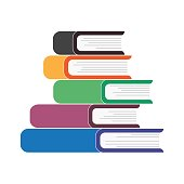 istock Five books stacked on top of each other 1165304190