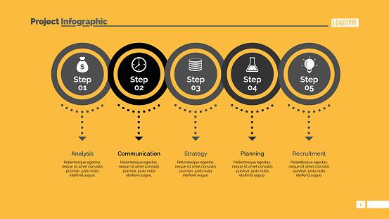 Five Circles Points Diagram Slide Template