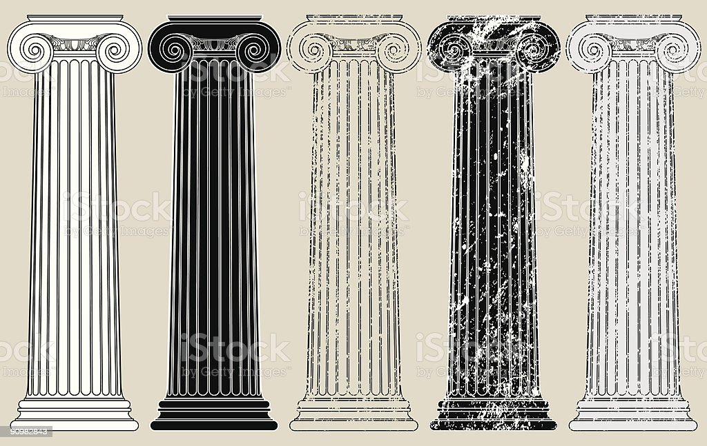 Five Columns vector art illustration