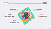 Five squares process chart slide template. Business data. Strategy, step. Creative concept for infographic, presentation, report. For topics like insurance, stock market.