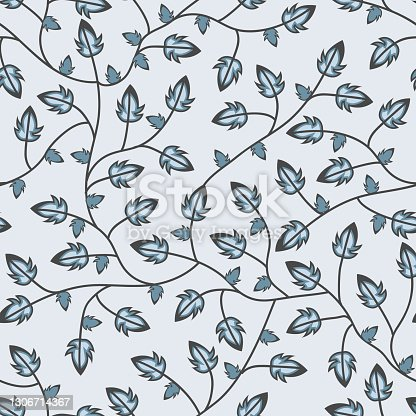 istock Five cornered Leaves branches seamless pattern 1306714367