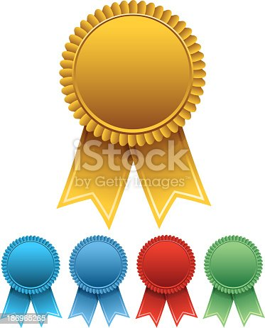 istock Five different colored celebration ribbons 186965265