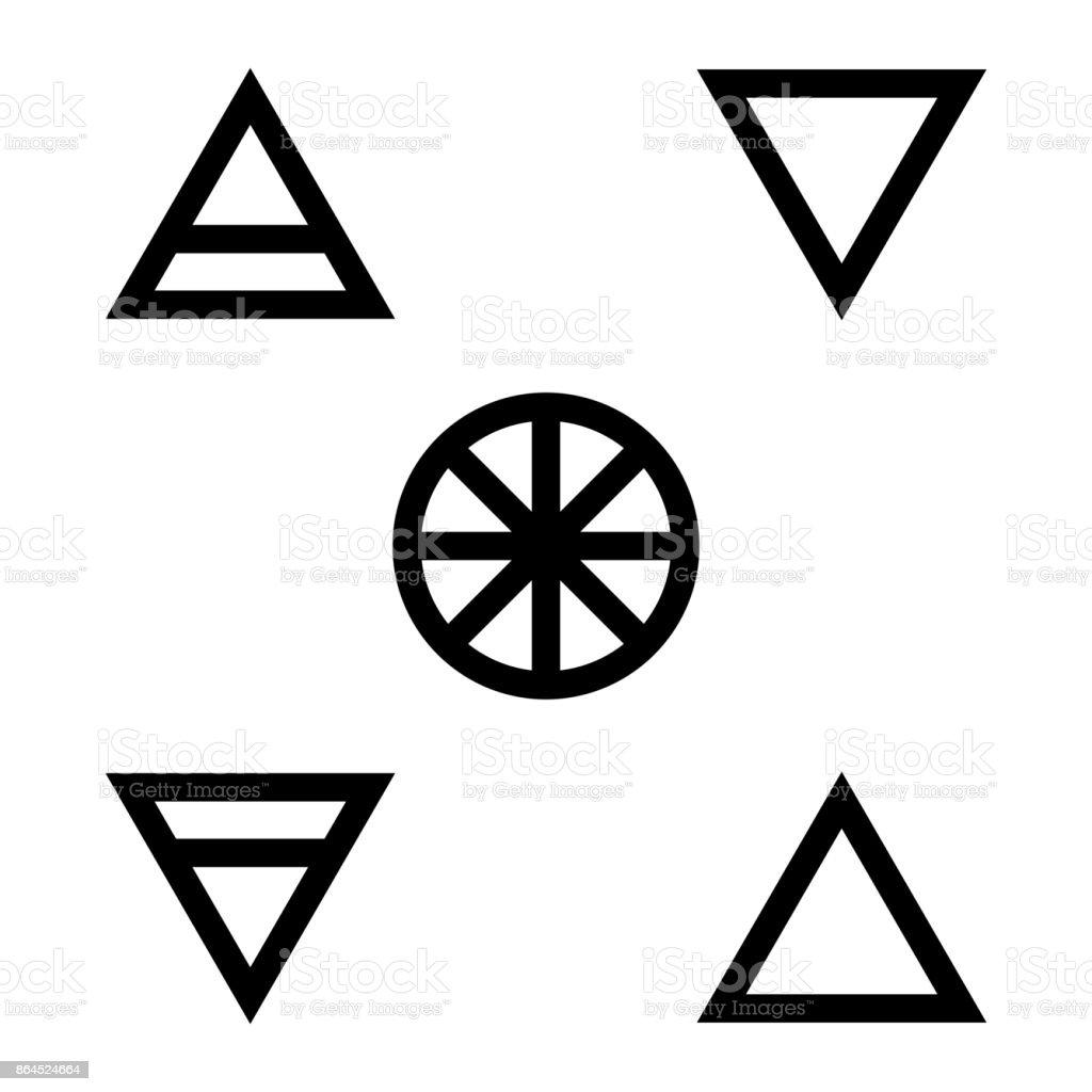 Five element flat silhouette icon set symbol design vector five element flat silhouette icon set symbol design vector illustration isolated on white background buycottarizona Images