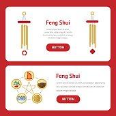 Five elements of feng shui: fire, water, wood, earth, metal