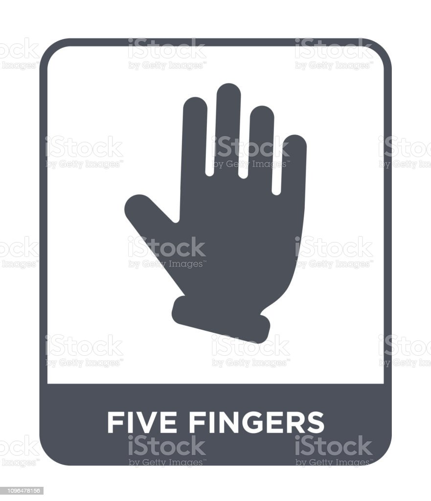 five fingers icon vector on white background, five fingers trendy filled icons from Hands and guestures collection vector art illustration