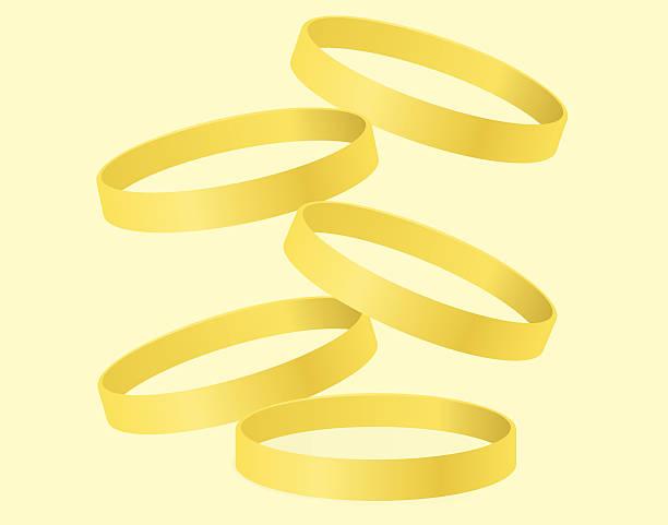 Five Gold Rings vector art illustration