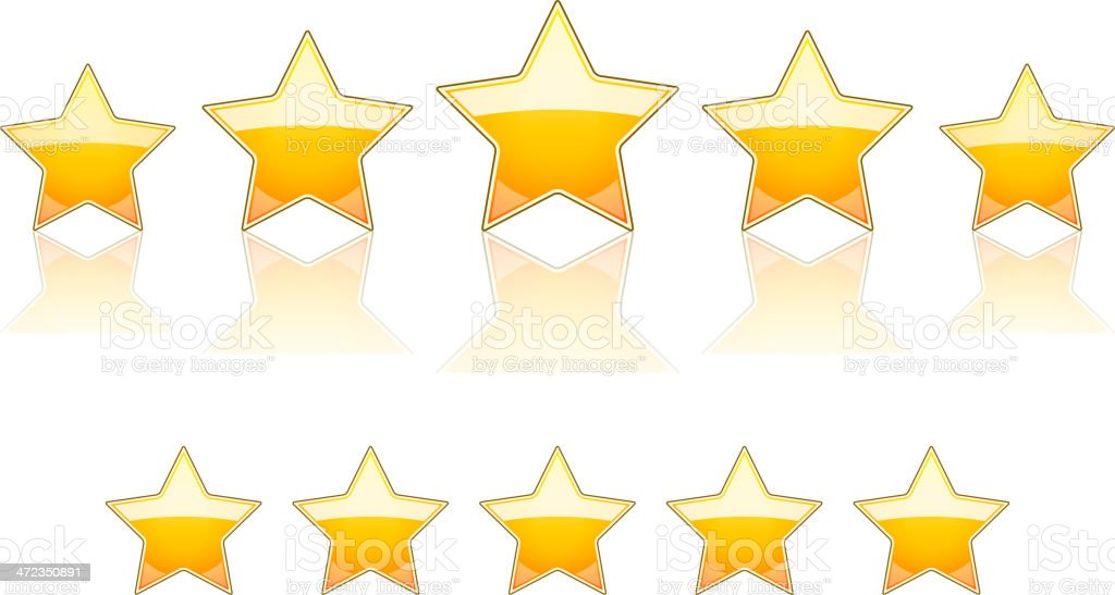 Five gold stars royalty-free five gold stars stock vector art & more images of achievement