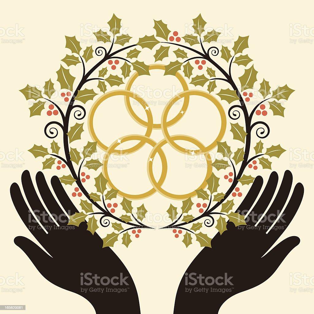 Five Golden Rings royalty-free stock vector art