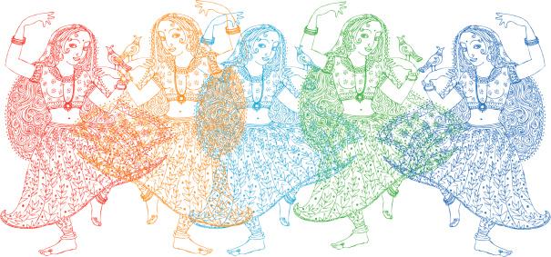 Five Indian Dancers