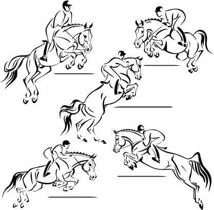 Five jumping riders1