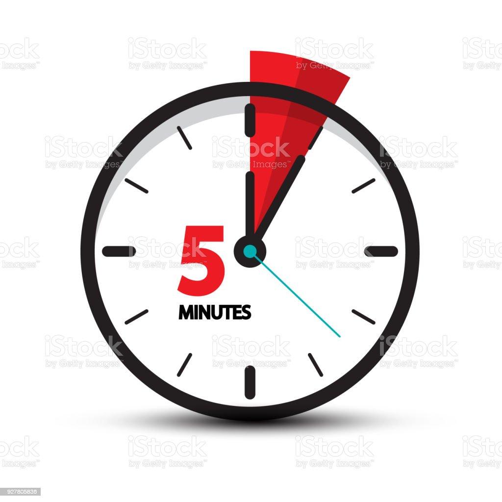Five Minutes Symbol vector art illustration