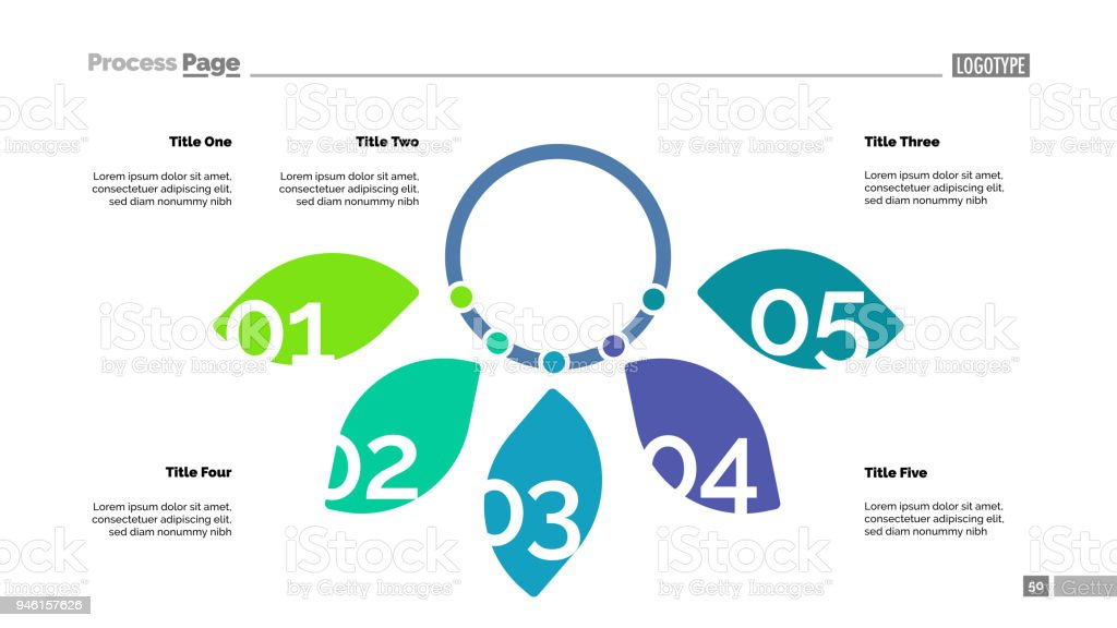Five Petal Diagram Slide Template Stock Vector Art & More Images of ...