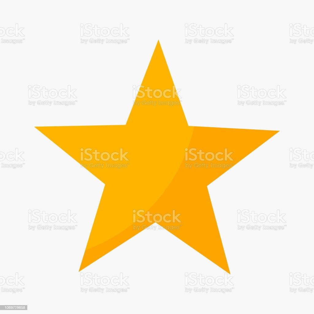 Five point star rating icon - Grafika wektorowa royalty-free (Abstrakcja)