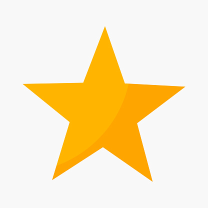 Five point star rating icon