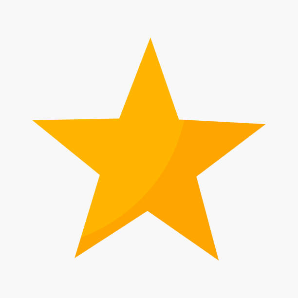 Five point star rating icon Five point star rating icon. Vector illustration stars stock illustrations