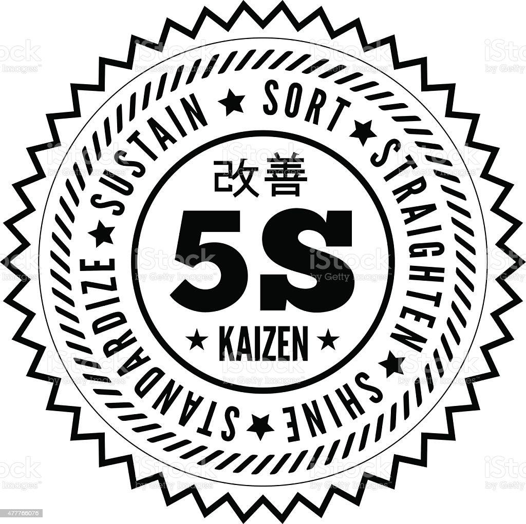 5 つの方法から日本の管理 ベクターアートイラスト
