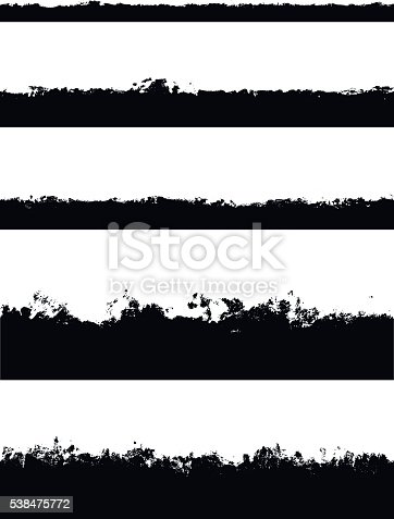 istock Five seamless borders isolated on white 538475772