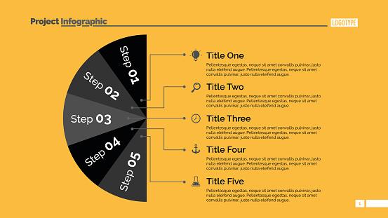 Five Sectors Diagram Slide Template