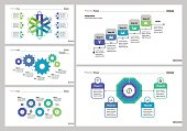 Infographic set can be used for workflow layout, diagram, annual report, presentation, web. Business and concept with process and flow charts.