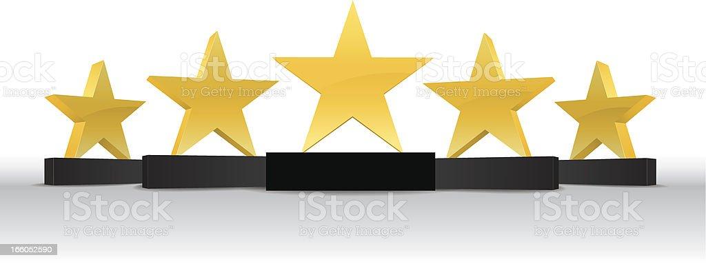 Five Star Awards royalty-free stock vector art