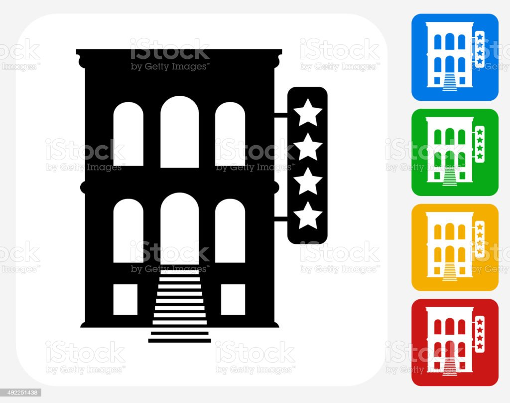 Five Star Hotel Icon Flat Graphic Design Royalty Free