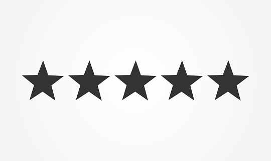 Five Stars Rating Icon Stock Illustration - Download Image Now
