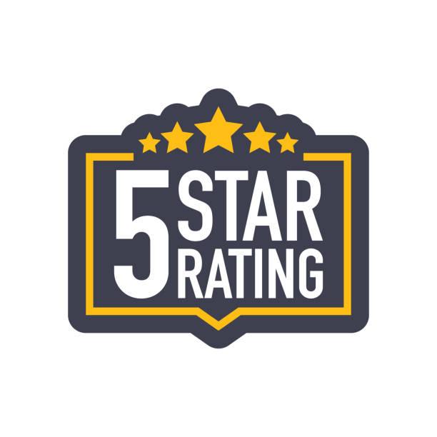 ilustraciones, imágenes clip art, dibujos animados e iconos de stock de cinco estrellas de calificación muestra en estilo plano. ilustración de vector. - mountain top