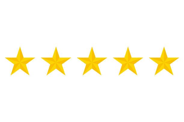 Fünf Sternen Vektor icon – Vektorgrafik