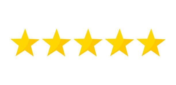 Five stars rating Five stars rating icon. Vector illustration stars stock illustrations