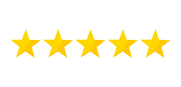 Five Stars Rating Stock Illustration - Download Image Now - iStock