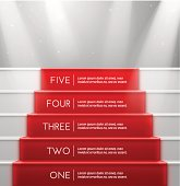 Five steps, success. Illustration contains transparency and blending effects, eps 10
