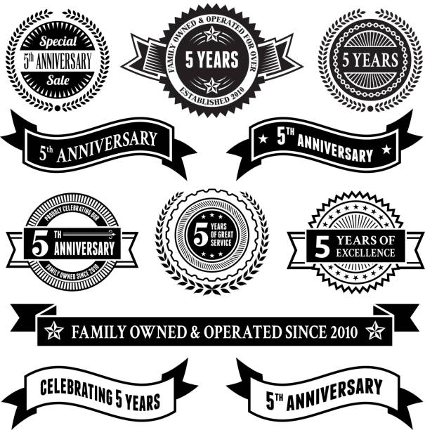 Line Art Year 5 : Royalty free years clip art vector images
