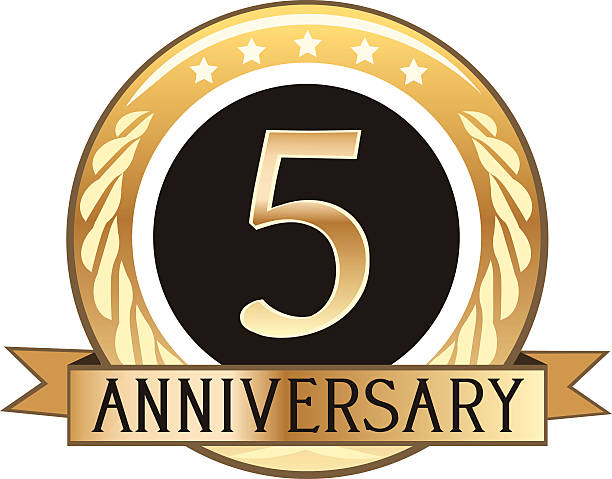 Royalty Free Five Year Anniversary Clip Art Vector Images