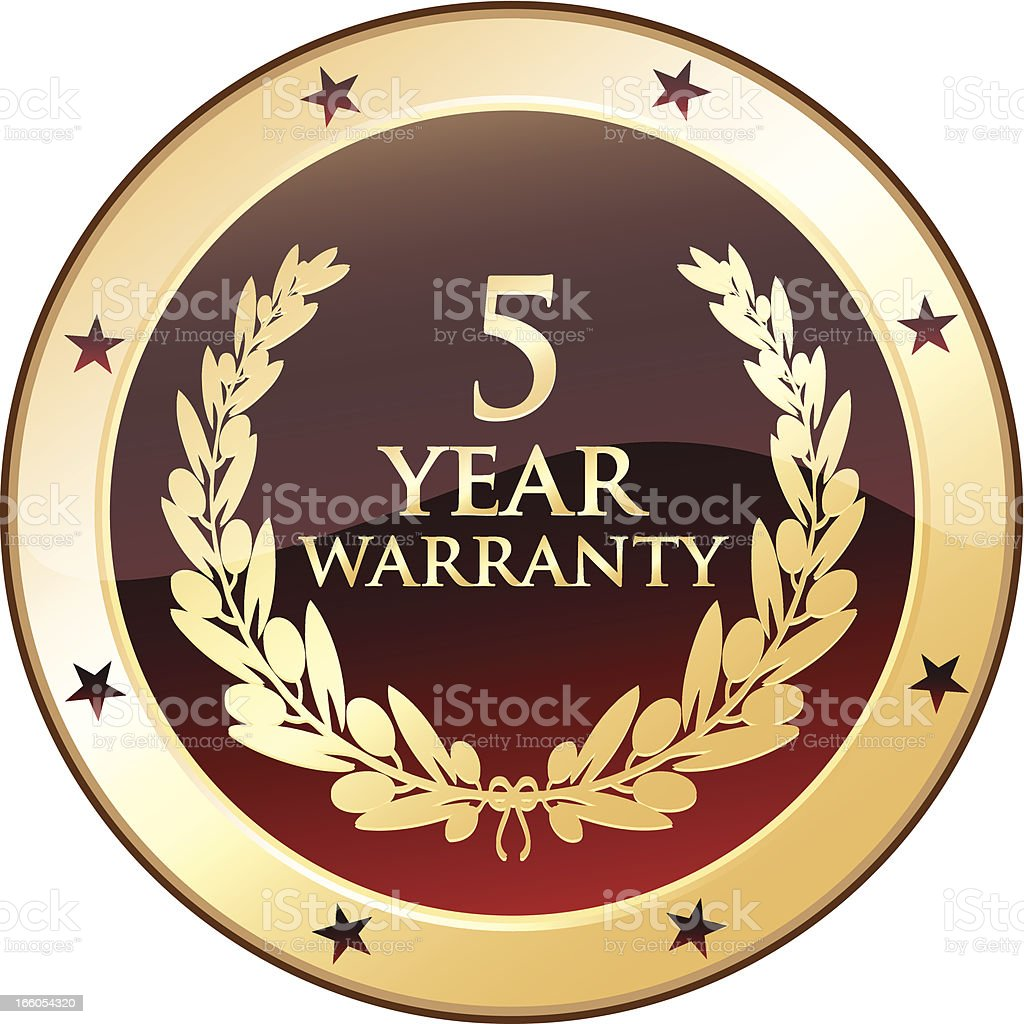 Five Year Warranty Shield royalty-free five year warranty shield stock vector art & more images of 4-5 years