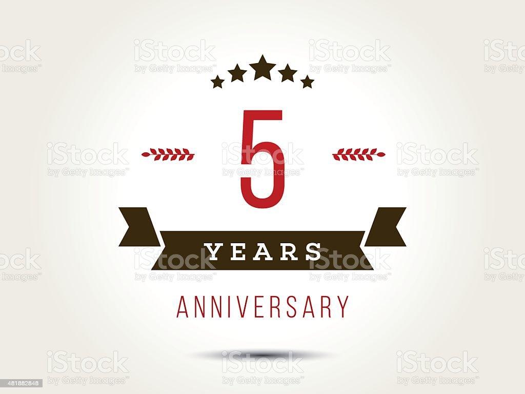 Five years anniversary celebration logotype th anniversary logo