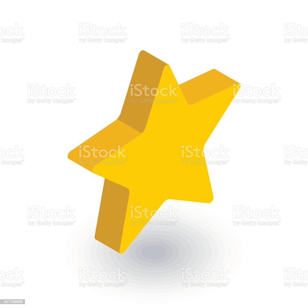 Fünfzackigen Stern Isometrische Flache Lesezeichensymbol 3d Vektor ...