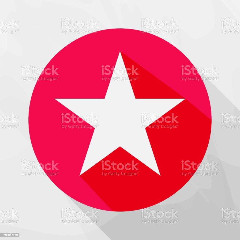 Fünfzackige Sterne Vektor Icon Sternsymbol Im Kreis Schichten Zur ...