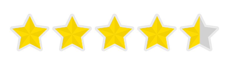 Fivestar Rating Icon Stock Illustration - Download Image Now - iStock