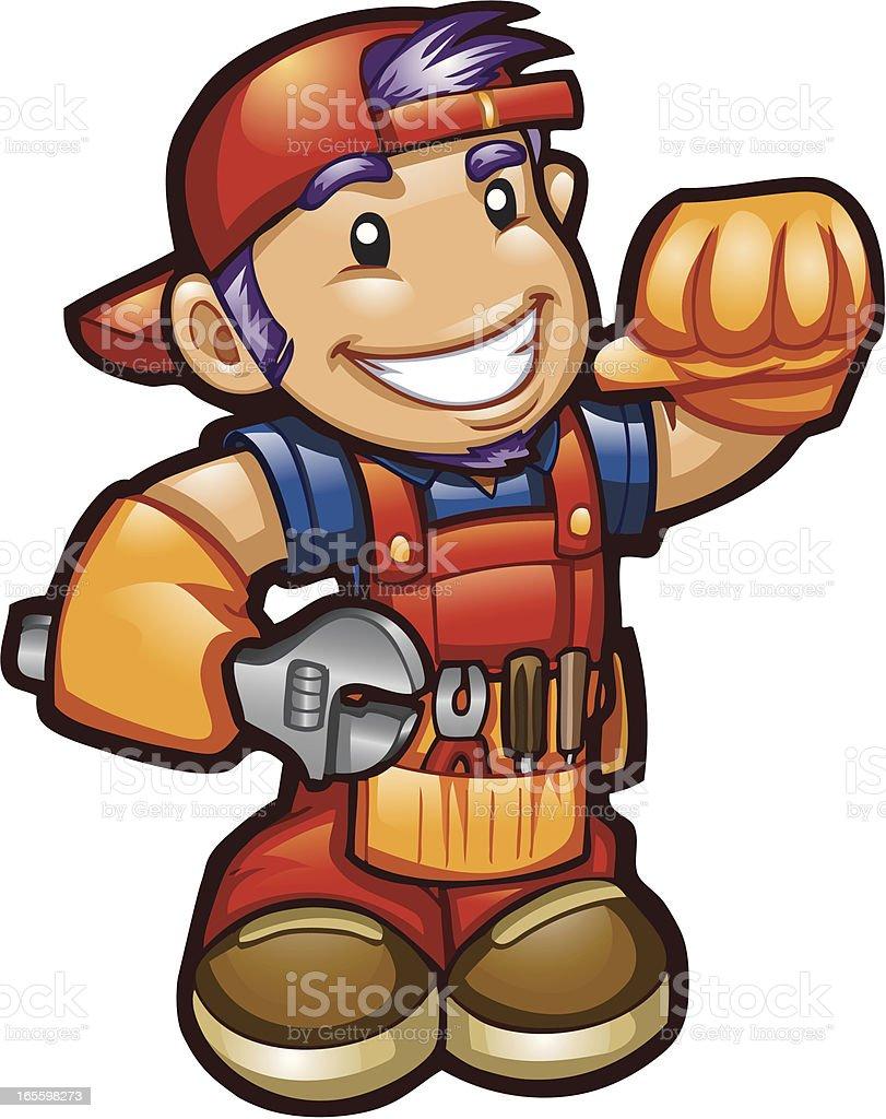 Fijación Guy ilustración de fijación guy y más banco de imágenes de fontanero libre de derechos