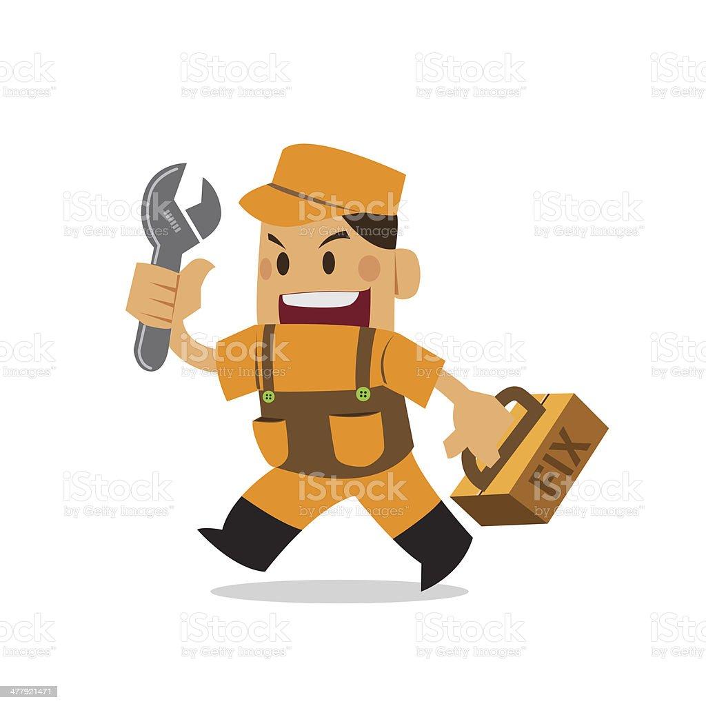 fix man, Mechanical, engineer, Reparation. repairman royalty-free fix man mechanical engineer reparation repairman stock vector art & more images of adult