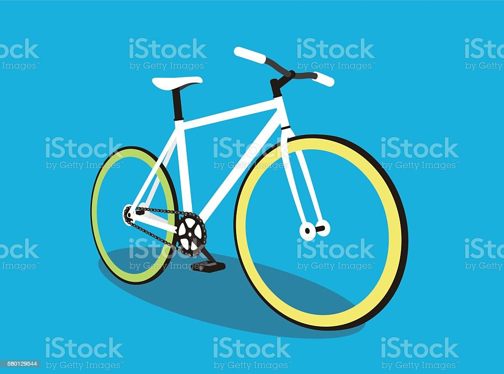 fixed-gear bicycle, vector illustration - ilustración de arte vectorial