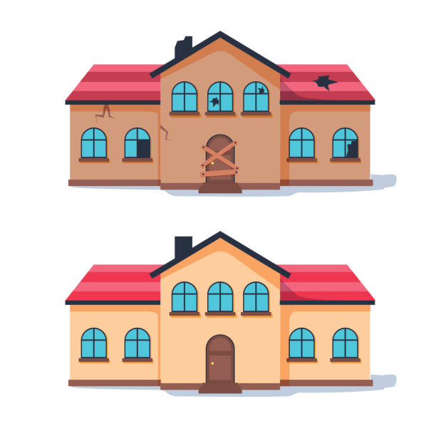 Best Abandoned House Illustrations, Royalty-Free Vector